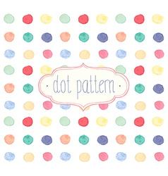 Watercolor dots vector