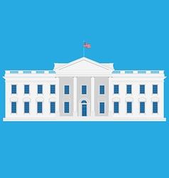 White house vector image