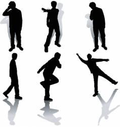 funky people vector image