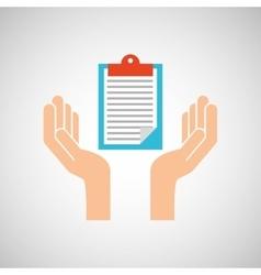 hands clipboard checklist report icon vector image
