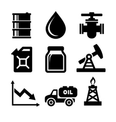 Oil Icons Set vector image