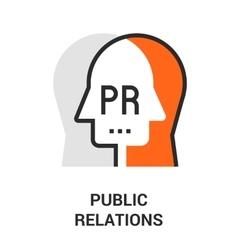 Public relations icon vector