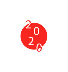 2020 on japanese flag for summer vector image
