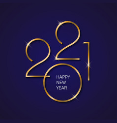 2021 new year background with gold numbers vector image