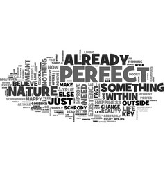 A glimpse of your true nature text word cloud vector