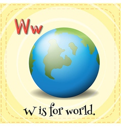A letter W for world vector