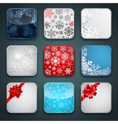 Apps Christmas icon set vector image