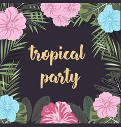 Banner tropical party vector