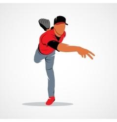baseball player ball vector image