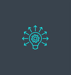 big idea concept blue line icon simple thin vector image