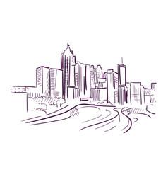 Birmingham alabama sketch line usa landscape hand vector