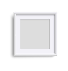 blank picture frame square empty picture frame vector image