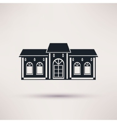 Buildings restaurant or cafe flat icon vector image vector image