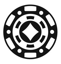casino chip icon simple style vector image