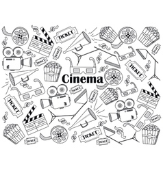 Cinema colorless set vector