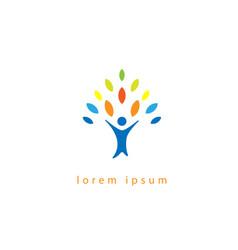 Community tree logo vector