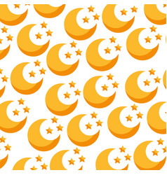Cute moon pattern background vector