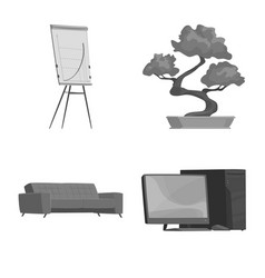 design of furniture and work symbol vector image