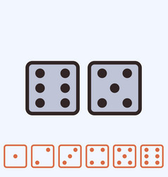 Dice icon isolated vector