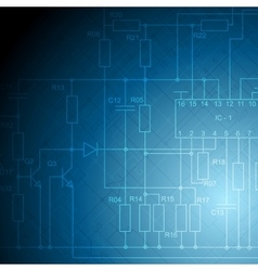 Electrical scheme tech background vector