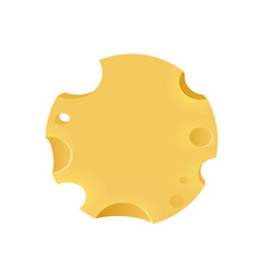 Emblem with porous cheese round form vector
