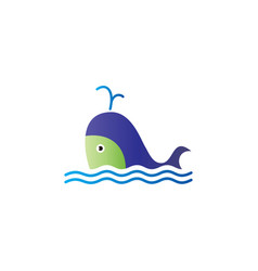 fish logo template ready for use vector image