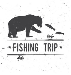 fishing trip vector image