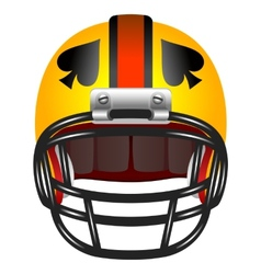 Football helmet with ace of spades vector image