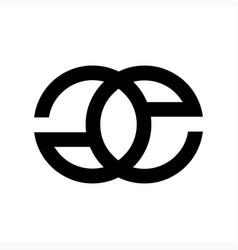 Ge eg goe eog initials geometric company logo vector