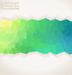 Geometric square background vector image