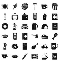 good cafe icons set simple style vector image