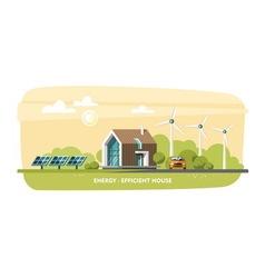 Green Energy Eco House Ecology vector image