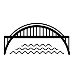 Harbour bridge icon simple black style vector