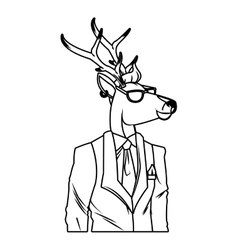 Hipster animals design vector