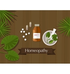 Homeopathy natural herbal medicine alternative vector