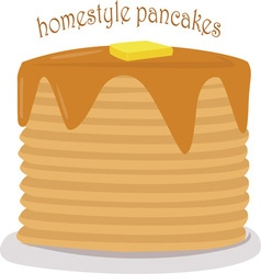 Homestyle Pancakes vector