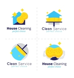House cleaning logo collection Cleaning vector