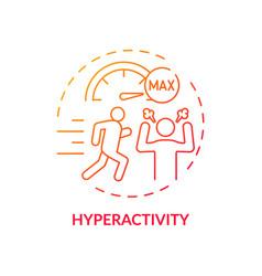 Hyperactivity red gradient concept icon vector