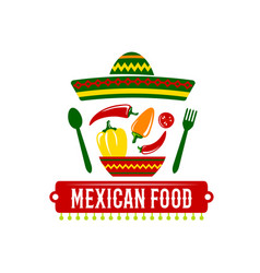 icon for mexican food restaurant vector image