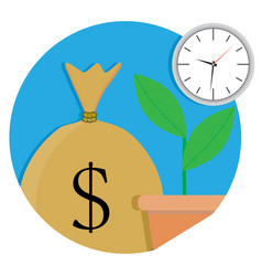 Increase capital icon vector