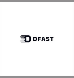 initial letter d logo design template vector image