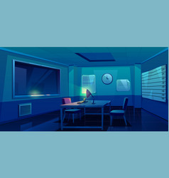 interrogation room in police station interior vector image