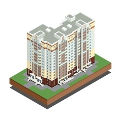 Isometric buildings real estate - city buildings - vector