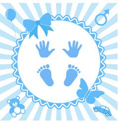 Its a boy baby gender reveal concept vector