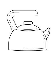 Kitchen kettle line icon vector