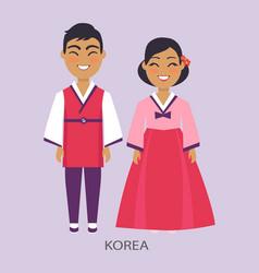 korea and representatives on vector image