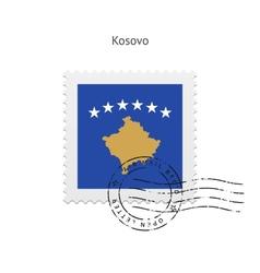 Kosovo Flag Postage Stamp vector