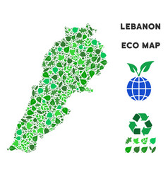 leaf green composition lebanon map vector image
