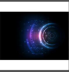 light color futuristic game circuit technology vector image