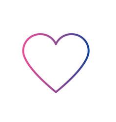 line heart love and romance symbol design vector image